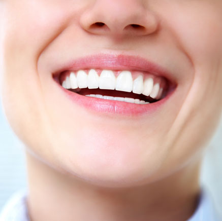 Upclose shot of smiling woman